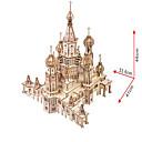 billiga 3D-pussel-3D-pussel Pappersmodell Modellbyggset Känd byggnad Kyrka GDS (Gör det själv) Simulering Hårt Kortpapper Klassisk Barn Unisex Pojkar Leksaker Present