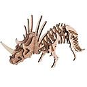 billiga 3D-pussel-3D-pussel Träpussel Trämodeller Triceratops Dinosaurie Fossilben GDS (Gör det själv) Trä 1 pcs Barn Vuxna Pojkar Flickor Leksaker Present
