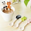 billige Bestikk-søt keramisk dessert skje dyr hengende barn te kaffe mating liten skje kawaii