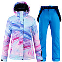 Χαμηλού Κόστους Γάντια-ARCTIC QUEEN Γυναικεία Μπουφάν και παντελόνι για σκι Σκι Κατασκήνωση & Πεζοπορία Χειμερινά Αθήματα Αδιάβροχη Αντιανεμικό Ζεστό Πολυεστέρας Σακάκι Παντελόνια Ρούχα σύνολα Ενδυμασία σκι / Χειμώνας