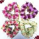 billiga Artificiell Blomma-konstgjord blomma hjärtformad krans bröllop bröllop dekoration dekoration kärlek krans 1 pinne