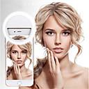 billige 3 Axis Gimbal-stabilisator-rainwayer usb lading ledet selfie-ringelys for iphone tilleggsbelysning selfie forbedrer fyllingslys for telefoner a2