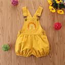 billige Babybukser-Baby Jente Grunnleggende Geometrisk Kjeledress og jumpsuit Gul