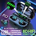 Χαμηλού Κόστους TWS Αληθινά ασύρματα ακουστικά-αληθινό s11 tws αληθινό ασύρματο ακουστικό bluetooth 5.0 ακουστικό 2200mah κινητή δύναμη για οθόνη smartphone led οθόνη αφής ελέγχου ipx5 αδιάβροχο αθλητικά ακουστικά fitness