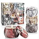 Χαμηλού Κόστους Κεριά & Κηροπήγια-αρωματικά κεριά γιασεμιού, λωτού, λουλουδιών λιλά&λευκή γαρδένια, φυσικό κερί σόγιας φορητό ταξιδάκι κερί κασσίτερου, δώρο 4