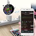 billige Målere og detektorer-ud18 usb3.0 / dc / type-c 18 i 1 usb tester app dc digital voltmeter ammeter hd fargeskjerm 6-biters høy presisjonsdisplay ud18 bluetooth digital meter