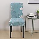 baratos Cobertura de Cadeira-Tampa da cadeira floral estiramento removível lavável protetor de cadeira de sala de jantar slipcovers home decor tampa da cadeira da sala de jantar