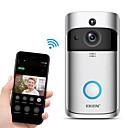 billige Tastelåser-eken v5 smart wifi video dørklokkekamera visuell intercom med klokkeslett nattsyn ip dørklokke trådløst hjemmesikkerhetskamera