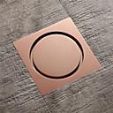 Χαμηλού Κόστους Αποχετεύσεις-4 ίντσες τετράγωνο ορείχαλκο αυξήθηκε χρυσό πάτωμα αποστράγγισης αποχέτευση ντους μπάνιο με πλαστικό πυρήνα αντι μυρωδιά