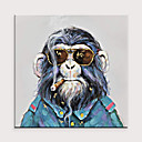 cheap Wallpaper-Abstract Animals Pop Cool Chimp Art Fabric Canvas Pure Hand Painted Oil Painting for Living Room Decor