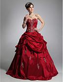 ราคาถูก Special Occasion Dresses-บอลกาวน์ คอสวีทฮาร์ท ลากพื้น Taffeta ทางการ แต่งตัว กับ กระโปรง Pick Up โดย TS Couture®
