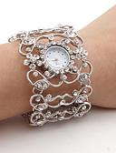 ราคาถูก นาฬิกาข้อมือ-สำหรับผู้หญิง นาฬิกาหรู นาฬิกาข้อมือ นาฬิกาเพชร ญี่ปุ่น นาฬิกาอิเล็กทรอนิกส์ (Quartz) เงิน นาฬิกาใส่ลำลอง ระบบอนาล็อก สุภาพสตรี วิบวับ กำไล แฟชั่น - สีเงิน หนึ่งปี อายุการใช้งานแบตเตอรี่