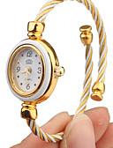 baratos Relógios de Pulseira-Mulheres Relógio de Moda Bracele Relógio Relogio Dourado Quartzo Branco Analógico Rígida Elegante - Dourado Branco Um ano Ciclo de Vida da Bateria / Tianqiu 377
