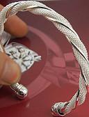 billige Truser til bryllup-Dame Mansjettarmbånd damer Mansjett Sølv Armbånd Smykker Sølv Til Bryllup Fest Spesiell Leilighet jubileum Bursdag Engasjement / Gave