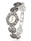 ราคาถูก นาฬิกาข้อมือ-สำหรับผู้หญิง นาฬิกาสร้อยข้อมือ ญี่ปุ่น นาฬิกาอิเล็กทรอนิกส์ (Quartz) เงิน นาฬิกาใส่ลำลอง ระบบอนาล็อก สุภาพสตรี ดอกไม้ แฟชั่น สง่างาม - สีเงิน หนึ่งปี อายุการใช้งานแบตเตอรี่ / SSUO SR626SW