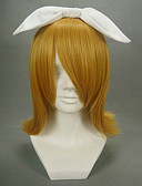 povoljno Stole za vjenčanje-Vocaloid Kagamine Rin Cosplay Wigs Žene 16 inch Otporna na toplinu vlakna Anime