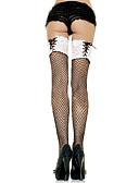 Χαμηλού Κόστους Πέπλα Γάμου-Γυναικεία Sexy Καλτσοδέτες - Μονόχρωμο / Patchwork, Δαντέλα Λεπ΄το Διχτυωτό Λευκό Μαύρο Ένα Μέγεθος