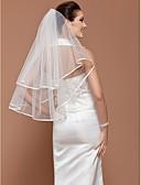 ราคาถูก ม่านสำหรับงานแต่งงาน-ชั้นเดียว ขอบโบว์ ผ้าคลุมหน้าชุดแต่งงาน Elbow Veils กับ 31.5 นิ้ว (80ซม.) Tulle A-line, Ball Gown, Princess, Sheath / Column, Trumpet / Mermaid / คลาสสิก