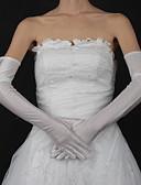 ราคาถูก ม่านสำหรับงานแต่งงาน-ฝ้าย / ซาติน ความยาวข้อมือ / ความยาวโอเปร่า ถุงมือ เสน่ห์ / Stylish / ถุงมือเจ้าสาว กับ ลายปัก / ไม่มีลาย