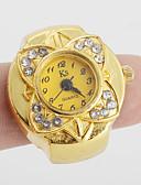 ราคาถูก นาฬิกาดิจิตอลสตรี-สำหรับผู้หญิง นาฬิกาแหวน นาฬิกาทอง ญี่ปุ่น นาฬิกาอิเล็กทรอนิกส์ (Quartz) ทอง นาฬิกาใส่ลำลอง สุภาพสตรี ดอกไม้ วินเทจ - สีทอง หนึ่งปี อายุการใช้งานแบตเตอรี่ / SSUO SR626SW