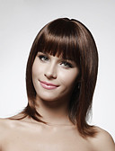 Χαμηλού Κόστους Γυναικείες μακριές και μίνι ολόσωμες φόρμες-Φυσικά μαλλιά Χωρίς κάλυμμα Περούκα Κούρεμα καρέ Σύντομα Hairstyles 2019 στυλ Ίσιο Περούκα 14 inch Γυναικεία / Ίσια