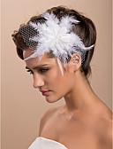 povoljno Kvarcni satovi-prekrasna vjenčanje tila pero svadbeni cvijet / gornji dio ženske odjeće / headpiece