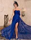 ราคาถูก ชุดแม่เจ้าสาว-ชีท / คอลัมน์ คอสวีทฮาร์ท ลากพื้น ชิฟฟอน Prom / ทางการ แต่งตัว กับ ผ่าหน้า / จับจีบ โดย TS Couture®
