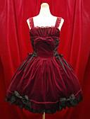 ราคาถูก ชุดโลลิต้า-เด็กผู้หญิง Gothic Lolita อาริสโตคราท โลลิต้า หนึ่งชิ้น ชุดเดรส สีดำ แดง Short Length ชุดเดรส อุปกรณ์เสริมโลลิต้า