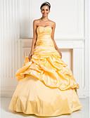 ราคาถูก Special Occasion Dresses-บอลกาวน์ คอสวีทฮาร์ท ลากพื้น Taffeta สไตล์วินเทจ ทางการ แต่งตัว กับ ของประดับด้วยลูกปัด / กากะบาท / ดอกไม้ โดย TS Couture®