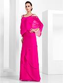 Χαμηλού Κόστους Βραδινά Φορέματα-Ίσια Γραμμή Λεπτές Τιράντες Μακρύ Σιφόν Κομψό Επίσημο Βραδινό / Μαύρο γκαλά Φόρεμα 2020 με Χάντρες / Βαθμίδες