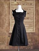billiga Slipsar och flugor-Classic Lolita Lolita Klänningar Dam Flickor Cotton Japanska Cosplay-kostymer Enfärgad Ärmlös Medium längd