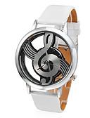 baratos Relógios de quartzo-Mulheres Relógio de Moda Quartzo Couro PU Acolchoado Branco Gravação Oca Analógico senhoras - Branco Um ano Ciclo de Vida da Bateria / SSUO 377