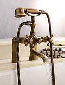baratos Bandas de Smartwatch-Torneira de Chuveiro / Torneira de Banheira - Clássica Latão Antiquado Banheira e Chuveiro Válvula Cerâmica Bath Shower Mixer Taps