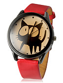 ราคาถูก ผ้าพันคอสุภาพบุรุษ-สำหรับผู้หญิง นาฬิกาข้อมือ นาฬิกาอิเล็กทรอนิกส์ (Quartz) PU Leather ดำ / สีขาว / แดง นาฬิกาใส่ลำลอง ระบบอนาล็อก สุภาพสตรี Cartoon แฟชั่น - ขาว สีดำ แดง หนึ่งปี อายุการใช้งานแบตเตอรี่ / SSUO LR626