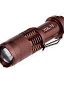 Χαμηλού Κόστους Men's Belt-Φακοί LED 1000 lm Τρόπος Cree XM-L T6 Ρυθμιζόμενη Εστίαση Zoomable για Κατασκήνωση/Πεζοπορία/Εξερεύνηση Σπηλαίων Καθημερινή Χρήση