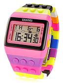 ราคาถูก นาฬิกาควอตซ์-สำหรับผู้หญิง นาฬิกาดิจิตอล นาฬิกาสแควร์ ดิจิตอล นาฬิกาปลุก ปฏิทิน โครโนกราฟ ดิจิตอล สุภาพสตรี เสน่ห์ แฟชั่น - สีชมพู / จอ LCD