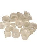 זול מחטים לאיפור קבוע-100pcs דיו כוסות לבן ברור קעקוע דיו פיגמנט כוסות אספקת