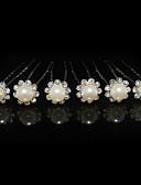 povoljno Praktični poklončići-Žene Umjetno drago kamenje Legura Imitacija Pearl Glava-Vjenčanje Special Occasion Pin kose 6 komada