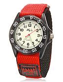 billige Barneklokker-Barnas Round Dial Fabric Band Quartz Analog armbåndsur (assorterte farger)