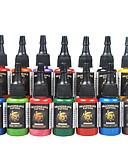 זול מחטים לאיפור קבוע-DRAGONHAWK דיו קעקוע 14 x 15 ml מקצועי - צבעים מרובים