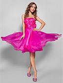 ราคาถูก Special Occasion Dresses-บอลกาวน์ ไร้สาย / คอสวีทฮาร์ท เสมอเข่า ออแกนซ่า / ซาตินยืด แต่งตัว กับ โบว์ / จีบ / ริบบิ้น โดย TS Couture®