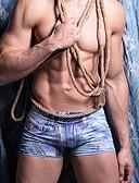 ราคาถูก เลกกิ้ง-สำหรับผู้ชาย ลายพิมพ์ ซูเปอร์เซ็กซี่ กางเกงในบ็อกเซอร์ เส้นใยสังเคราะห์ / สแปนเด็กซ์ 1 ชิ้น