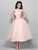 Χαμηλού Κόστους Φορέματα Χορού Αποφοίτησης-Βραδινή τουαλέτα Στράπλες / Ευθεία Γραβάτα Κάτω από το γόνατο Τούλι Δεκαετία του 1950 / Χρώματα Pastel Χοροεσπερίδα / Επίσημο Βραδινό Φόρεμα 2020 με Φιόγκος(οι) / Πιασίματα