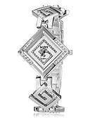 זול שעונים קוורץ-בגדי ריקוד נשים שעון יד שעון יהלומים שעון מרובע Japanese כסף / זהב אנלוגי נשים אלגנטית - זהב כסף שנה אחת חיי סוללה / SRUO SR626SW