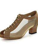 baratos Vestidos de Festa-Mulheres Sapatos de Dança Courino Sapatos de Dança Moderna / Dança de Salão Sandália Salto Robusto Personalizável Preto / Dourado / EU43