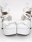 ราคาถูก ฟิล์มกันรอยสำหรับนาฬิกาอัจฉริยะ-สำหรับผู้หญิง รองเท้า Punk Lolita ส้นสูง รองเท้า ประดับโบว์ 9.5 cm Polyurethane Leather ชุดฮาโลวีน / เจ้าหญิง
