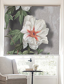 זול כבל & מטענים iPhone-Lifelike Blooms And Bees Country Style Roller Shade