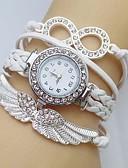 ราคาถูก นาฬิกาข้อมือ-สำหรับผู้หญิง นาฬิกาสร้อยข้อมือ จำลอง Diamond Watch นาฬิกาเพชร นาฬิกาอิเล็กทรอนิกส์ (Quartz) หนัง สีขาว / ฟ้า / แดง เลียนแบบเพชร ระบบอนาล็อก สุภาพสตรี วิบวับ โบฮีเมียน แฟชั่น - สีเขียว ฟ้า สีชมพู