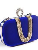 baratos Vestidos de Noite-Mulheres Detalhes em Cristal Poliéster Bolsa de Festa Rhinestone Crystal Evening Bags Fúcsia / Vermelho / Azul