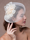 billige Hatter til damer-Krystall / Tøy / organza Tiaras / fascinators / blomster med 1 Bryllup / Fest / aften Hodeplagg / Hatter